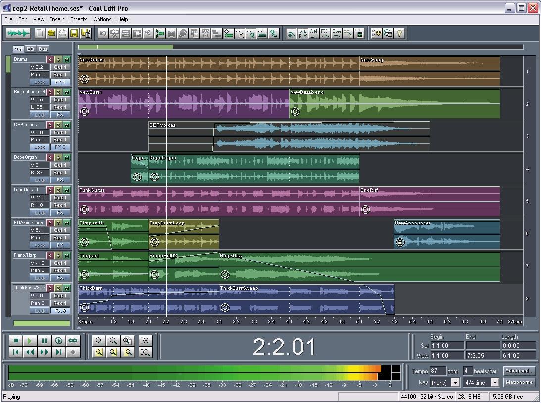 Các track tạo thành một bản Radio hoàn chỉnh