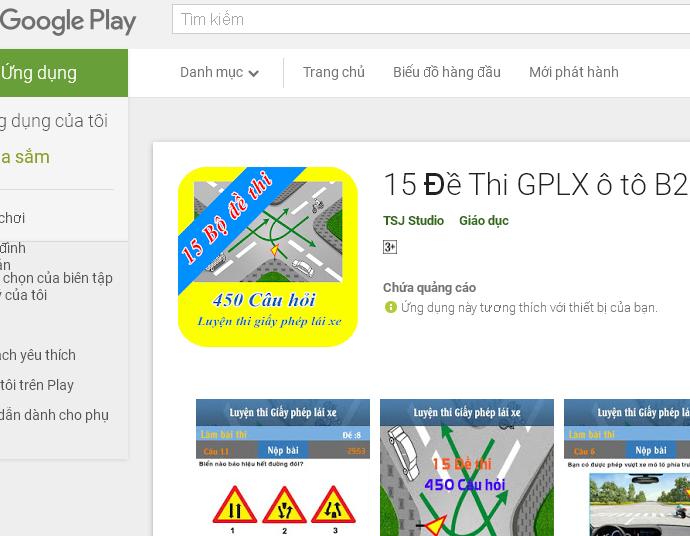 Có thể tải phần mềm trên CH Play