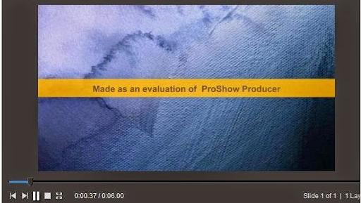 Dòng chữ vàng trong Proshow Producer