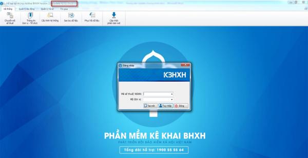 Giao diện phần mềm KBHXH