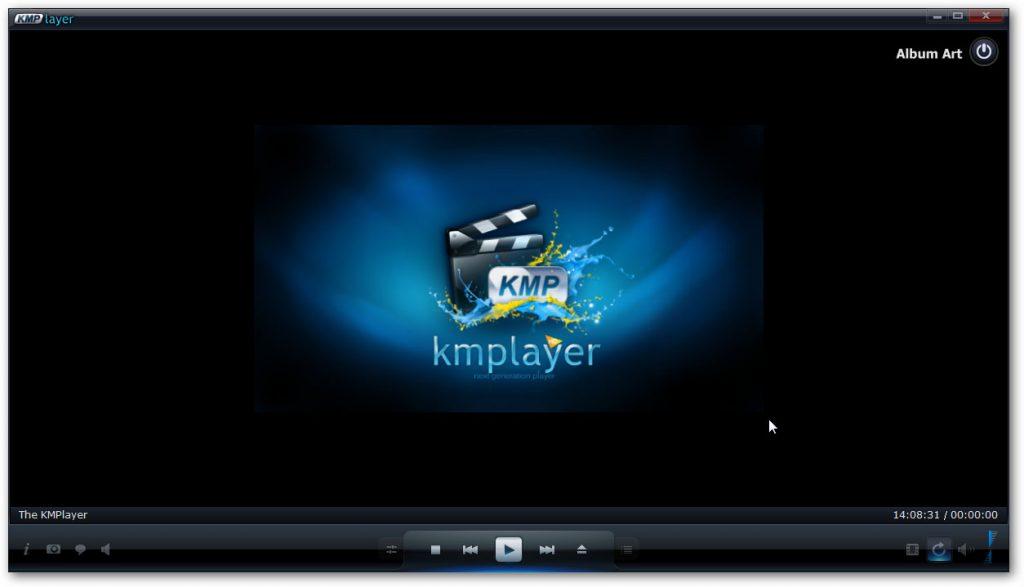 Giao diện phần mềm nghe nhạc KMPlayer mới nhất