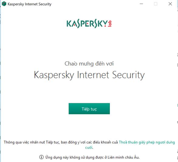 Phần mềm bảo mật Kaspersky