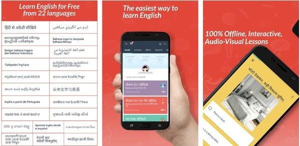 Phần mềm học tiếng anh trên điện thoại Hello English Learn English