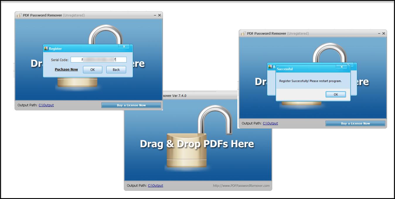 Phần mềm mở khóa Password Remover cần trả phí