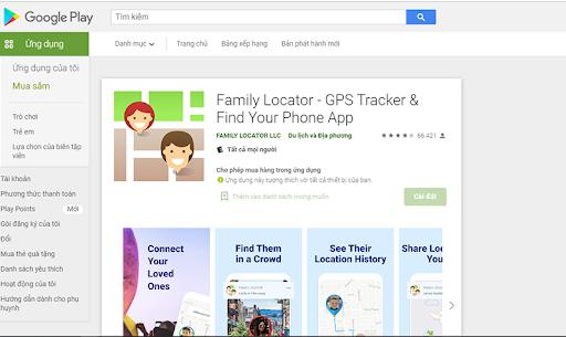 Phần mềm theo dõi điện thoại Family Locator- GPS Tracker