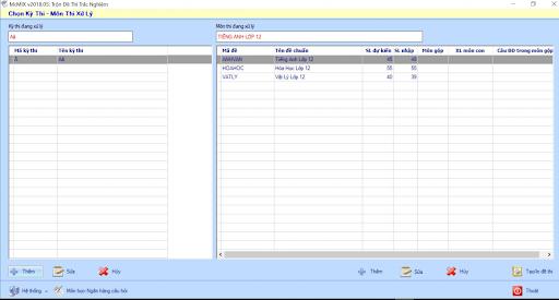 Phần mềm thi trắc nghiệm trên máy tính McMIX