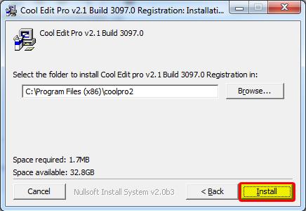 Quá trình cài đặt phần mềm thu âm Cool Edit Pro 2.1 full crack