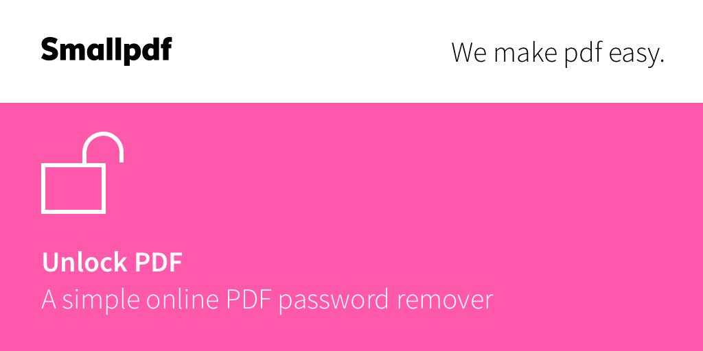 SmallPDF-công cụ mở khóa hiệu quả