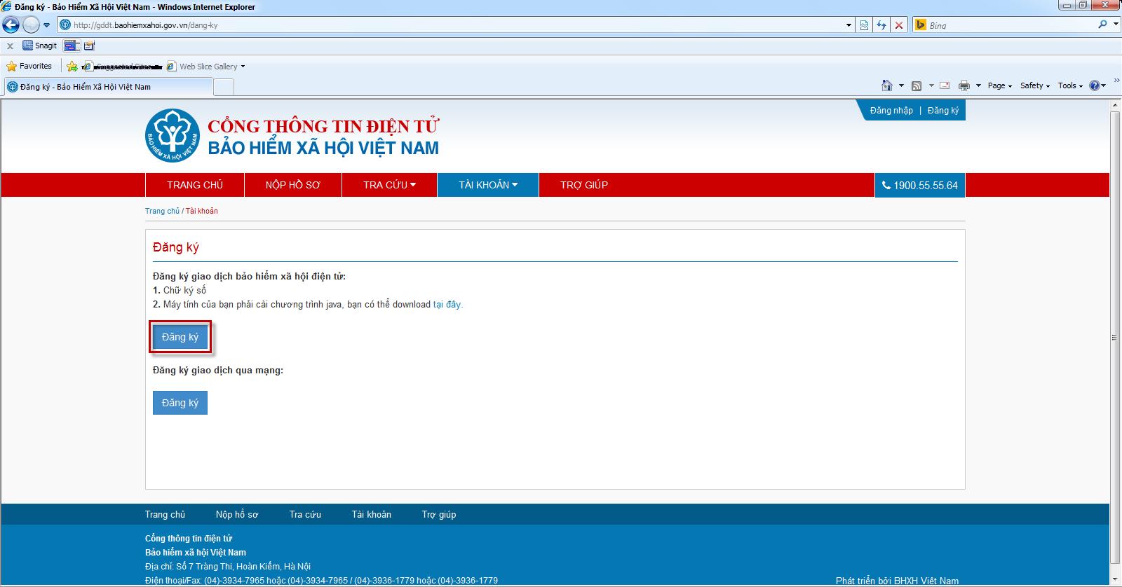 Trang chủ hệ thống cổng thông tin điện tử